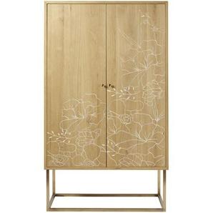 Armoire 2 portes gravures florales Karla