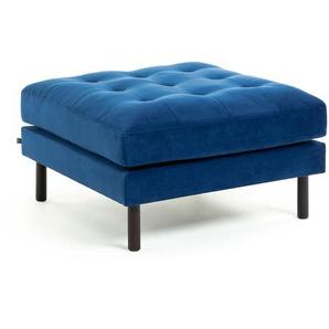 Kave Home - Pouf Debra 80 x 80 cm velours bleu