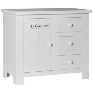 Commode blanche Barcelone en pin