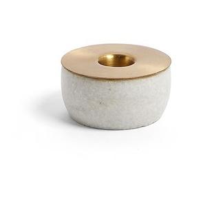 Bougeoir Llaksa 3,5 cm, marbre blanc