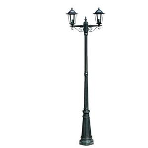 Lampadaire extérieur double vert 215 cm luminaire décoration - HELLOSHOP26