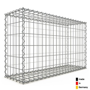 Gabion 100x60x30cm « made in Germany » - mailles rectangulaires 5x10cm - GABIONDECO