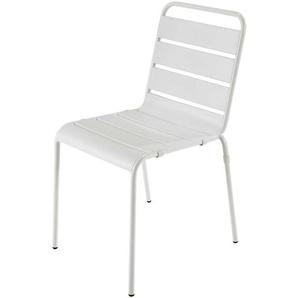 Chaise de jardin en métal blanche Batignolles