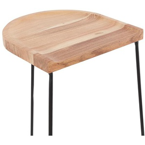Tabouret snack mi-hauteur BALDA MINI en bois finition naturelle style industriel
