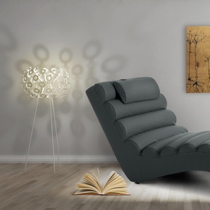 JUSTyou RELIKS Fauteuil relax 75x168x80 cm Gris