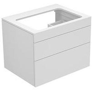 Keuco Edition 400 Vanity unit 31571, sans perçage de trou de robinet, 700 x 546 x 535 mm, Corps/Avant: Vernis structuré blanc / Vernis texturé blanc - 31571380000 - KEUCO GMBH & CO. KG