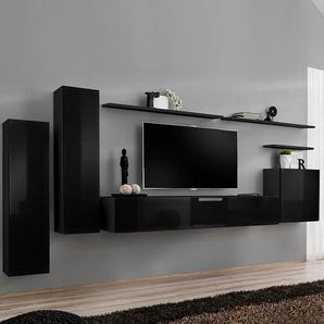 Meuble tv suspendu noir SOLENDRO 4