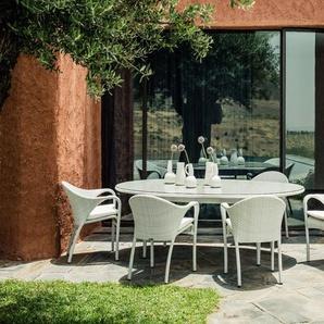 Dedon Table de salle à manger ronde Tango 130 cm - écru