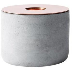 men-u Menu 5612039 Chunk Bougeoir en béton Cuivré Taille M Hauteur 7 cm Ø 8cm