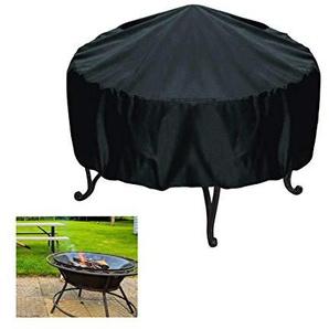 Kuiji Housse imperméable pour Foyer, Chauffage de Jardin, Patio, extérieur pour Barbecue, Taille : 86 x 50 cm Noir