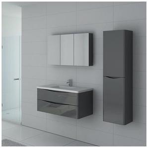 Meuble de salle de bain simple vasque TREVISE 1000 Gris Taupe - DISTRIBAIN