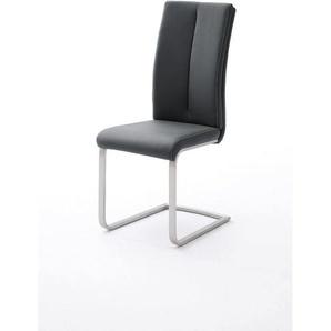 Chaise de salle à manger moderne en PU (lot de 4) Hidayo Noir - Bordeaux, marron, jaune, taupe, gris, vert, bleu, noir ou blanc - DELADECO