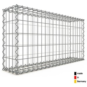 Gabion 100x50x20cm « made in Germany » - mailles rectangulaires 5x10cm - GABIONDECO