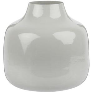 Vase boule en métal gris H13