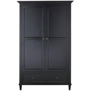 Armoire 2 portes 1 tiroir noire Cambronne