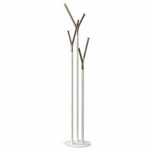 FROST Quadra - Portemanteau - blanc/or/H 175cm/Ø 35cm/structure blanc