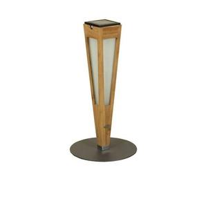 TINKA TECKA-Torche dextérieur LED à poser rechargeable & solaire Bois/Ardoise H52cm teck naturel Les Jardins