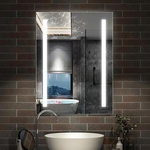 Miroir lumineux LED 80x60cm miroir de salle de bain anti-buée - AICA SANITAIRE