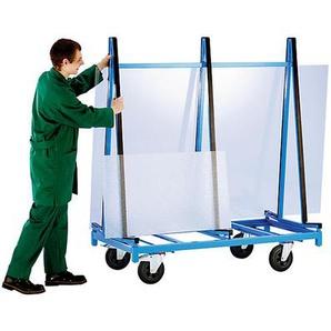 EUROKRAFT Chariots pour vitres et panneaux fragiles - 2 plates-formes - avec profilés caoutchouc