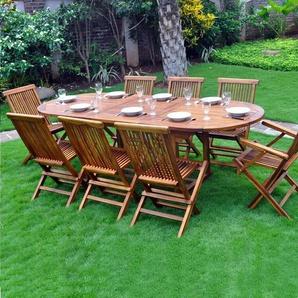 Salon de jardin en Teck huilé Java 8-10 places