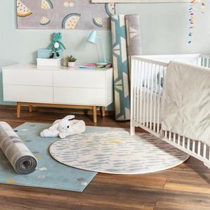 Tapis enfant Juno Turquoise 160x230 cm - Tapis pour chambre denfants/bébé
