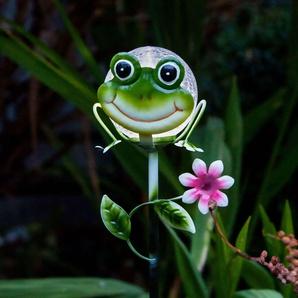 Jolie lampe solaire à piquet Sicily grenouille