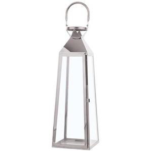 Lanterne argentée classique 53 cm