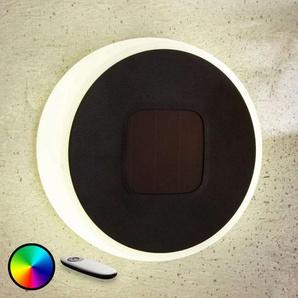 Lampe solaire LED Benka, forme de disque, 20cm