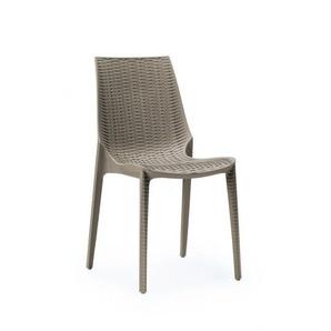 Chaise tressée style rotin design - LUCREZIA
