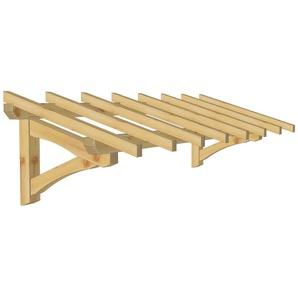 Marquise & Auvent en bois | Garage - Robuste - 3.10 x 1.10 m - WMU
