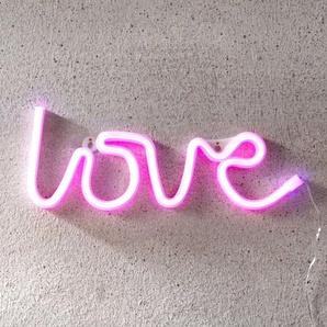 Inscription LED Love, USB, à piles