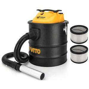 Aspirateur de cendres VITO 1400W TORNADO 18L- 2 Filtres HEPA Poêles cheminées Jusquà 50°C Souffleur Auto System clean du filtre - VITO PRO-POWER