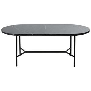 Table basse ovale en marbre noir Sloane