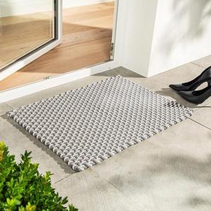 pad home design Paillasson cordelettes, 72 x 52 cm - Beige/Blanc, polypropylène