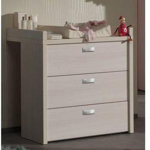Commode à langer 3 tiroirs peint chêne blanc