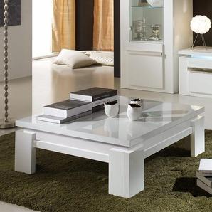 Table basse carrée blanche laquée design RALPH
