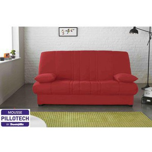 RELAXIMA - Banquette lit Clic Clac Taupe Edwin - Matelas Mousse Pillotech by Dunlopillo