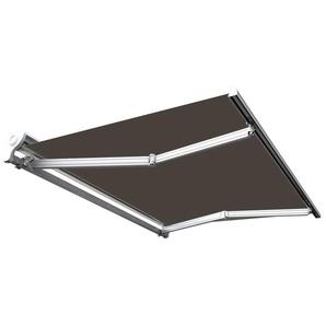 Store banne manuel Demi coffre pour terrasse - Taupe - 2,5 x 2 m - SUNNY INCH ®