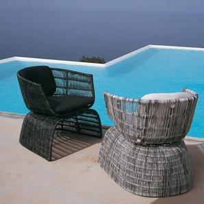 B & B Italia Petit fauteuil Crinoline - noir-bronze - blanc