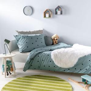 Tapis enfant Noa Kids Stripes Vert ø 120 cm rond - Tapis pour chambre denfants/bébé