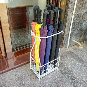 Porte-parapluie, Porte-gouttes En Métal Et Porte-parapluies ## (Couleur : Blanc)