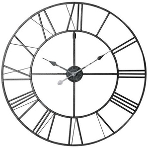 Horloge en métal noir D80