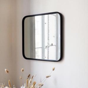 Miroir carré angles arrondis métal
