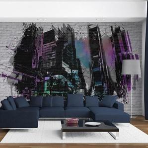Papier peint - Art urbain : Grande ville moderne