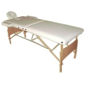 Canapé de massage mobile 2 zones avec sac, banc de massage pliable, de couleur crème, NOUVEAU - MUCOLA