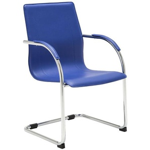 Chaise visiteur Melina V2 bleu - CLP