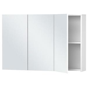 Armoire de toilette Blanche - 3 Portes - 60 cm x 90 cm (HxL) - Blanc - PRADEL
