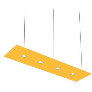 LARIS-Suspension LED 4 lumières lumière neutre L120cm Jaune Nowleds