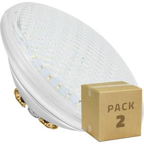 PACK Ampoule LED Submersible PAR56 18W (2 Un) Blanc Chaud 2800K - 3200K - LEDKIA