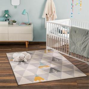 Tapis enfant Juno Beige 160x230 cm - Tapis pour chambre denfants/bébé